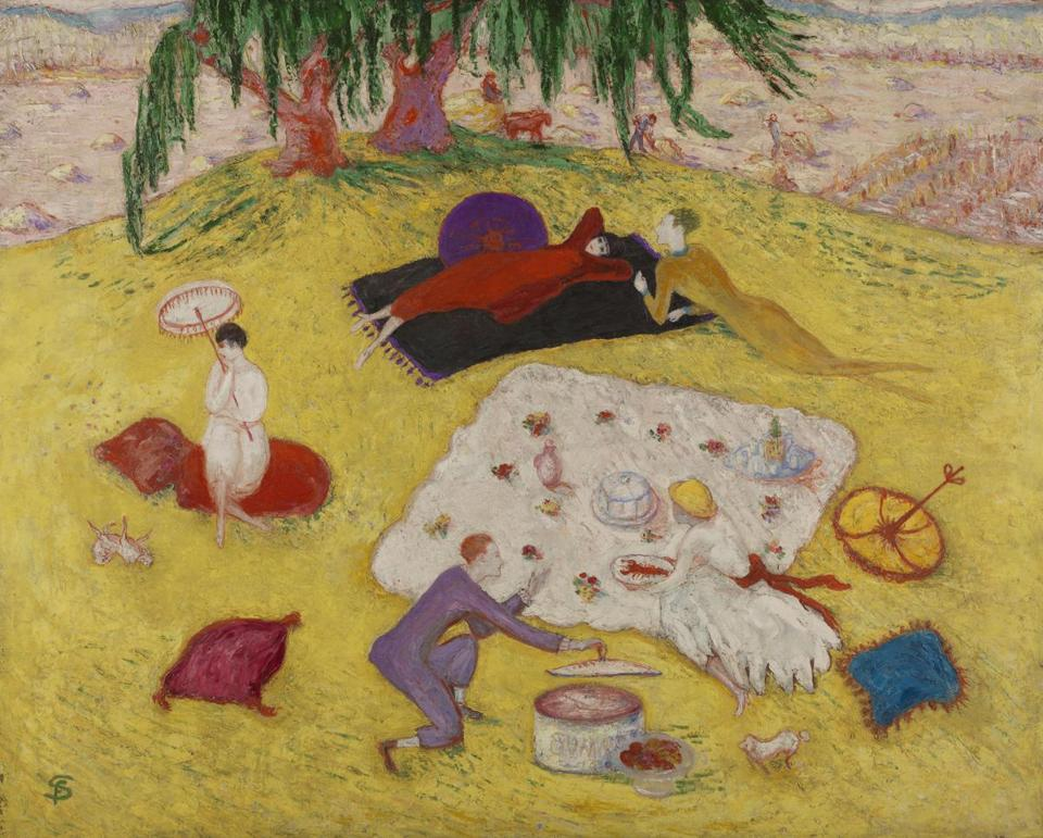 "Florine Stettheimer's ""Picnic at Bedford Hills,"" from ""Women Modernists in New York"" at the Portland Museum of Art."